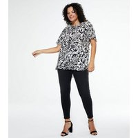 Curves Black Lift And Shape Skinny Jeans New Look