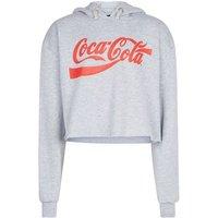 Girls Grey Marl Coca-Cola Hoodie New Look