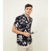 Navy Floral Short Sleeve Shirt New Look