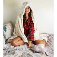 'White Fluffy Llama Slanket New Look