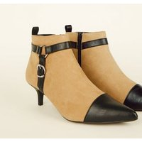 Camel Stirrup Pointed Ankle Boots New Look