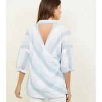 apricot-blue-stripe-cutout-back-shirt-new-look