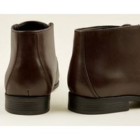 Dark Brown Formal Chukka Boots New Look