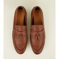 Tan Tassel Trim Loafers New Look