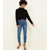 Blue Patch Pocket Skinny Jenna Jeans New Look