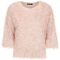 Pale Pink Eyelash Knit Slouchy Top New Look