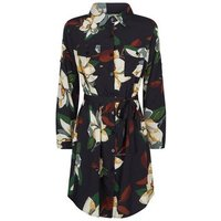 Mela Black Floral Shirt Dress New Look