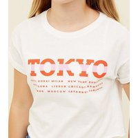 Girls White Crop Tokyo T-Shirt New Look