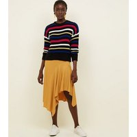 Yellow-Ribbed-Asymmetric-Midi-Skirt-New-Look