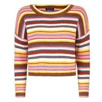 Rainbow Stripe Knitted Jumper New Look
