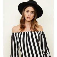 Cameo Rose Black Stripe Bardot Dress New Look
