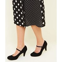 Extra Wide Fit Black Mary Jane Courts New Look