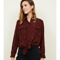 red-snake-print-pocket-front-shirt-new-look
