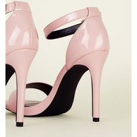 Wide Fit Pink Patent Stiletto Heels New Look