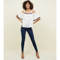 apricot-white-pom-pom-cold-shoulder-top-new-look