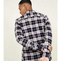 Black Long Sleeve Check Cotton Shirt New Look