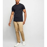 Navy Muscle Fit T-Shirt New Look
