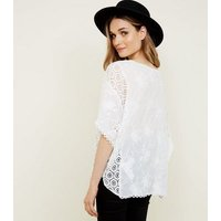 Apricot Cream Lace Batwing Sleeve Top New Look