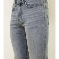 Pale Grey Skinny Stretch Jeans New Look