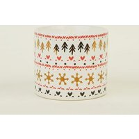 Red Festive Print Chocolate Marshmallow Scented Candle New Look
