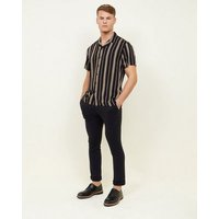Black and Mustard Stripe Short Sleeve Shirt New Look