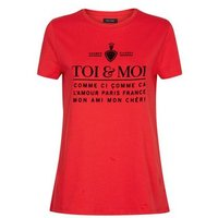 Red Toi and Moi Printed Slogan T-Shirt New Look