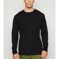Black Long Sleeve Crew Neck T-Shirt New Look