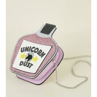 Multicoloured Unicorn Dust Slogan Bottle Shoulder Bag New Look
