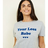 Bright Blue Your Loss Babe Check Pyjama Set New Look