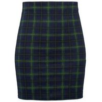 Girls Blue Check Tube Skirt New Look