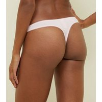 5 Pack Black  White and Pink Cotton Stretch Thongs New Look