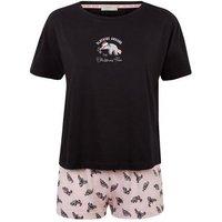 Pink Sloth Slogan Pyjama Gift Set New Look