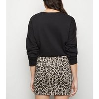 Maternity Black Leopard Print Tube Skirt New Look