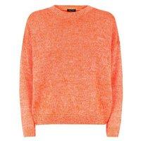 Bright Orange Neon Twist Slouchy Jumper New Look