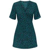 Petite-Green-Leopard-Print-Mini-Dress-New-Look