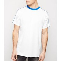White Piped Panel Oversized T-Shirt New Look