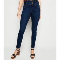 Blue Rinse Wash High Waist Skinny Yazmin Jeans New Look