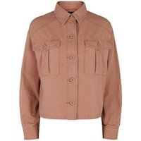 Pink Utility Pocket Cropped Lightweight Jacket New Look