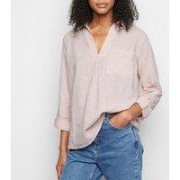 Pale Pink Linen Blend Overhead Shirt New Look