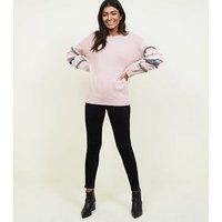 Cameo Rose Pale Pink Tassel Sleeve Jumper New Look