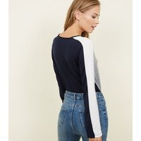 apricot-pale-grey-colour-block-long-sleeve-top-new-look