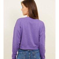 Purple Chicago East Coast Slogan Sweatshirt New Look