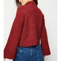 red-flare-sleeve-boxy-jumper-new-look