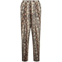 Cameo Rose Brown Snake Print Trousers New Look