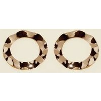 Gold Beaten Hoop Earrings New Look