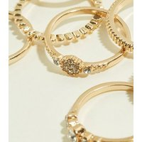 7 Pack Gold Crystal Stacking Rolls New Look