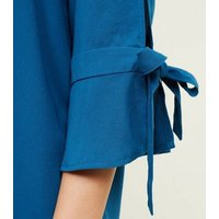 Apricot-Bar-Back-Tie-Sleeve-Shift-Dress-New-Look