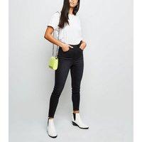 Petite Black High Rise 'Lift & Shape' Skinny Jeans New Look