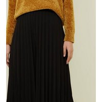 Cameo Rose Black Pleated Culottes New Look