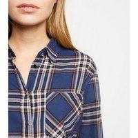 Petite Blue Check Shirt New Look